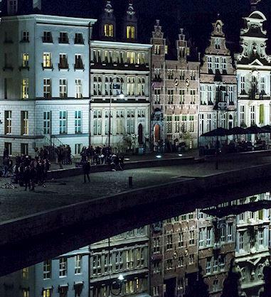 Ghent Marriott Hotel by Night