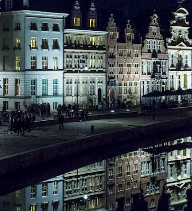 Ghent Marriott Hotel by Night
